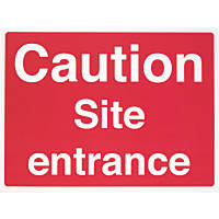 """Caution Site Entrance"" Sign 450 x 600mm"
