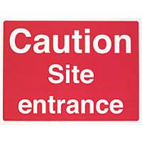 """""""Caution Site Entrance"""" Sign 450 x 600mm"""