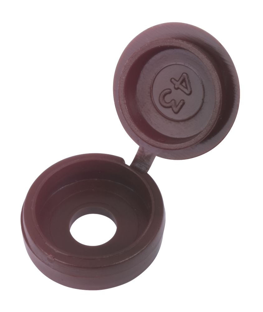 Snap Caps Brown Polypropylene 6-8ga Pack of 100