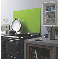 Lime Self-Adhesive Toughened Glass Splashback 900 x 750 x 6mm