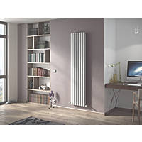 Ximax Fortuna Vertical Double-Panel Designer Radiator White 1800 x 410mm