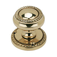 Georgian Mortice Knobs Pair Polished Brass 51mm