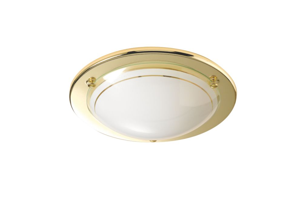 Brass Circular Ceiling Light 60W