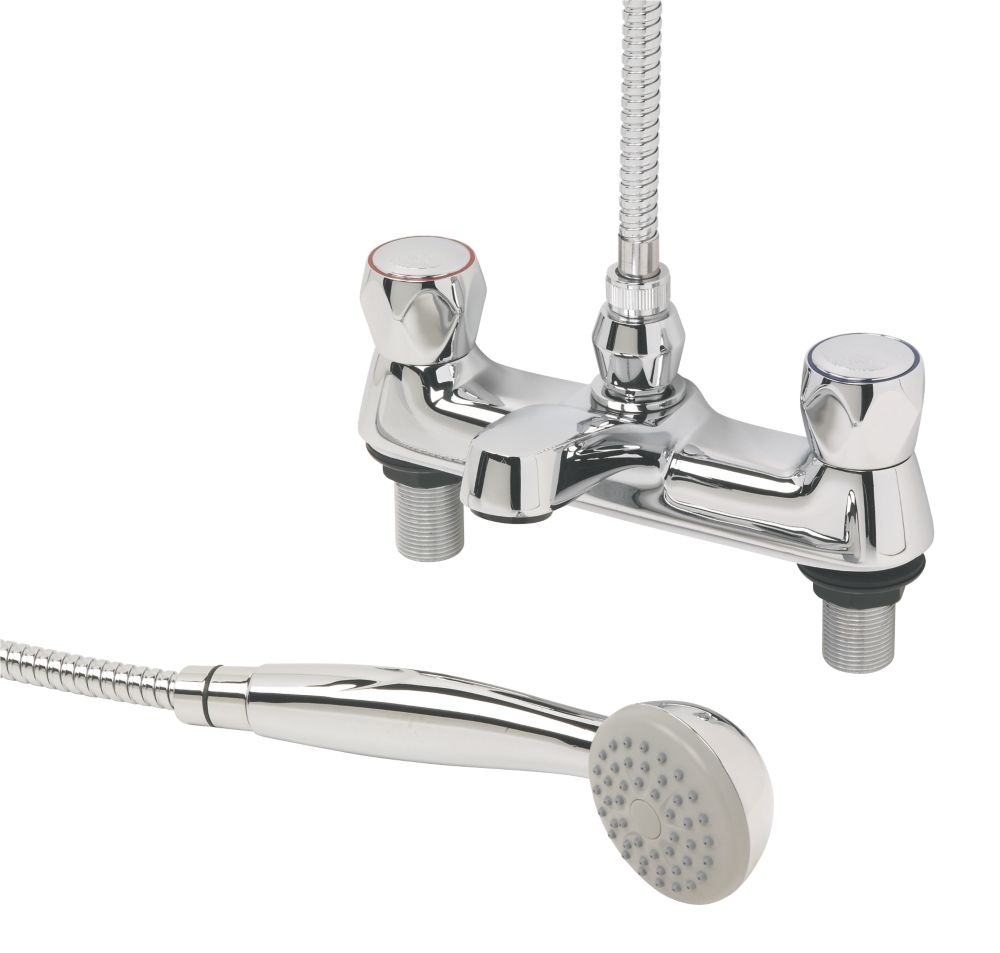 Swirl Contract Metal Head Bath Shower Mixer Tap