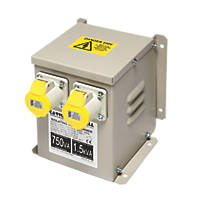 Wall Mounted Transformer with 2 Output Sockets 1500VA