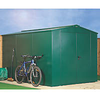 Asgard Gladiator Plus 1 All-Metal Bike Store with Assembly Green 2.3 x 3.3m