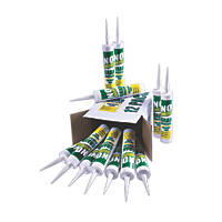 No Nonsense 11663102 Solvent-Free Grab Adhesive White 310ml 12 Pack