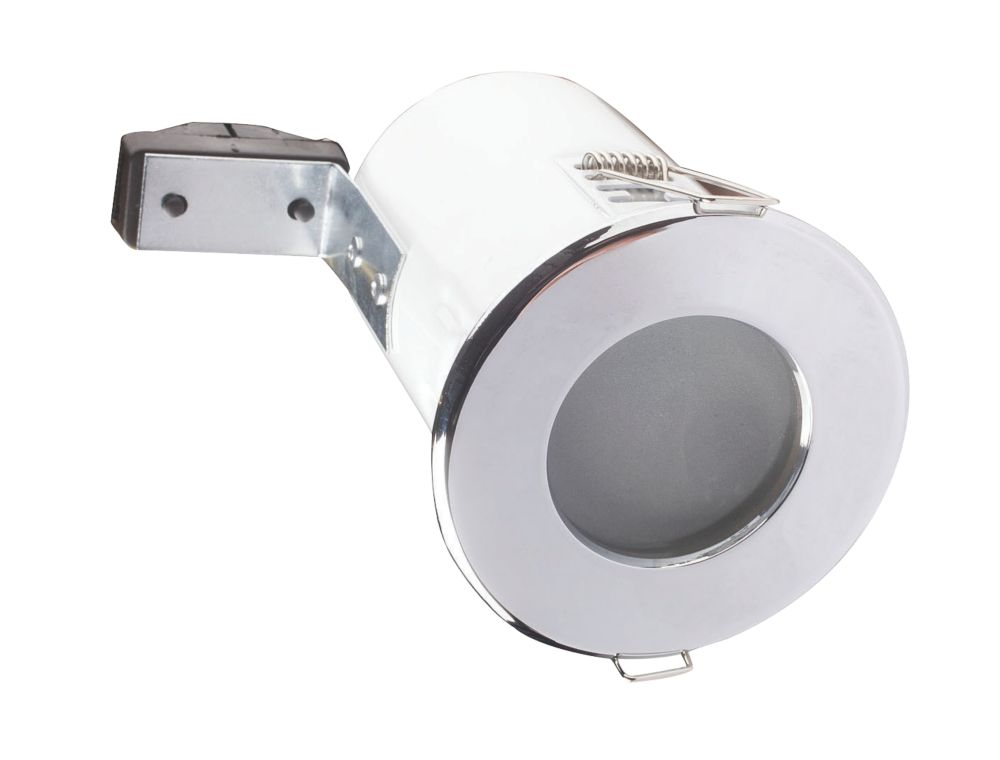 ROBUS F-Rated 240v IP65 Polished Chrome Downlight