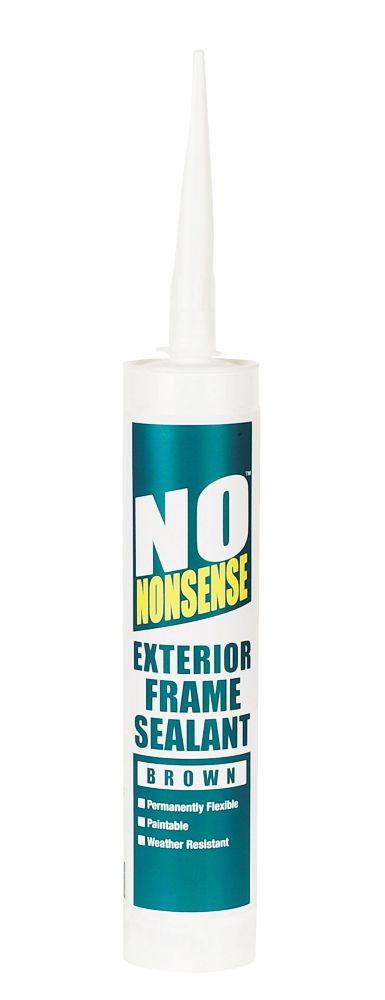 No Nonsense Exterior Frame Sealant Brown 310ml