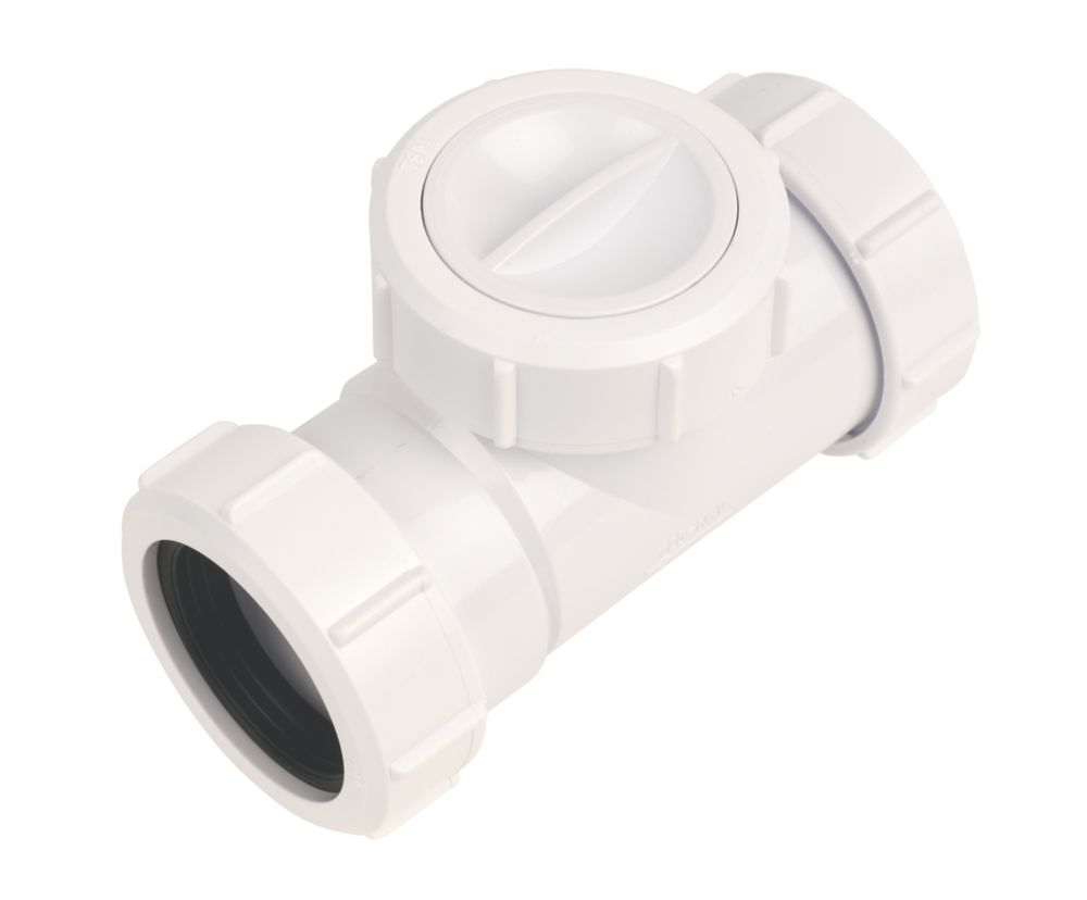 McAlpine T28M-NRV 40mm Non-Return Valve White