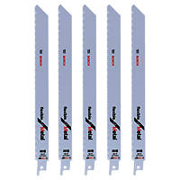 Bosch Reciprocating Saw Blades Metal S1122BF 225mm 14Tpi Pack of 5