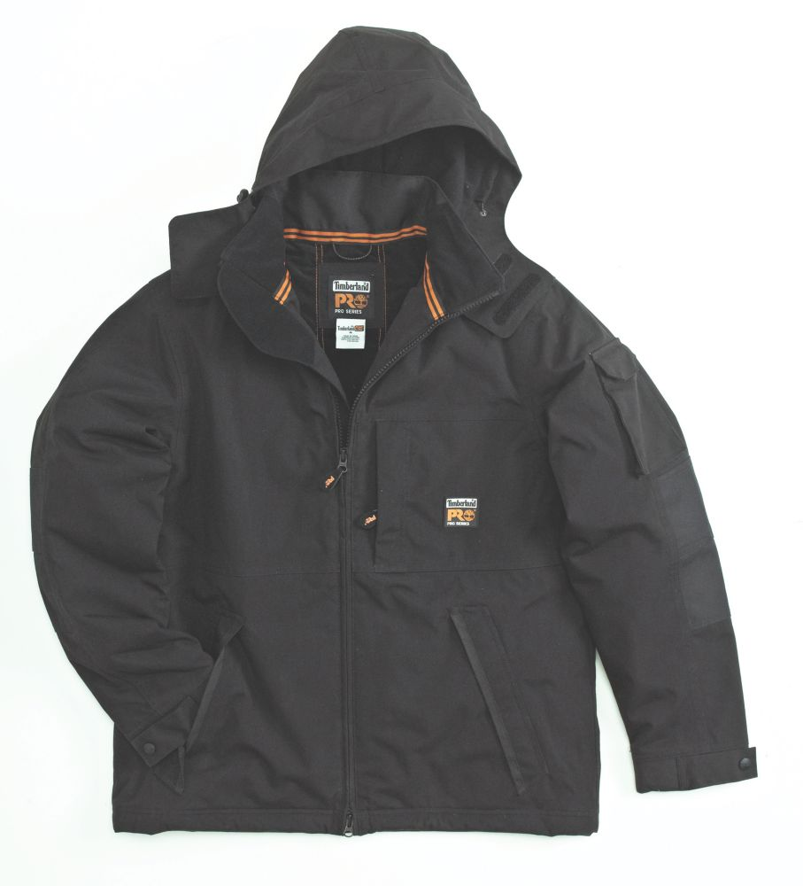 "Timberland Pro Oxford Waterproof Parka Jacket Black X Large 44-46"" Chest"