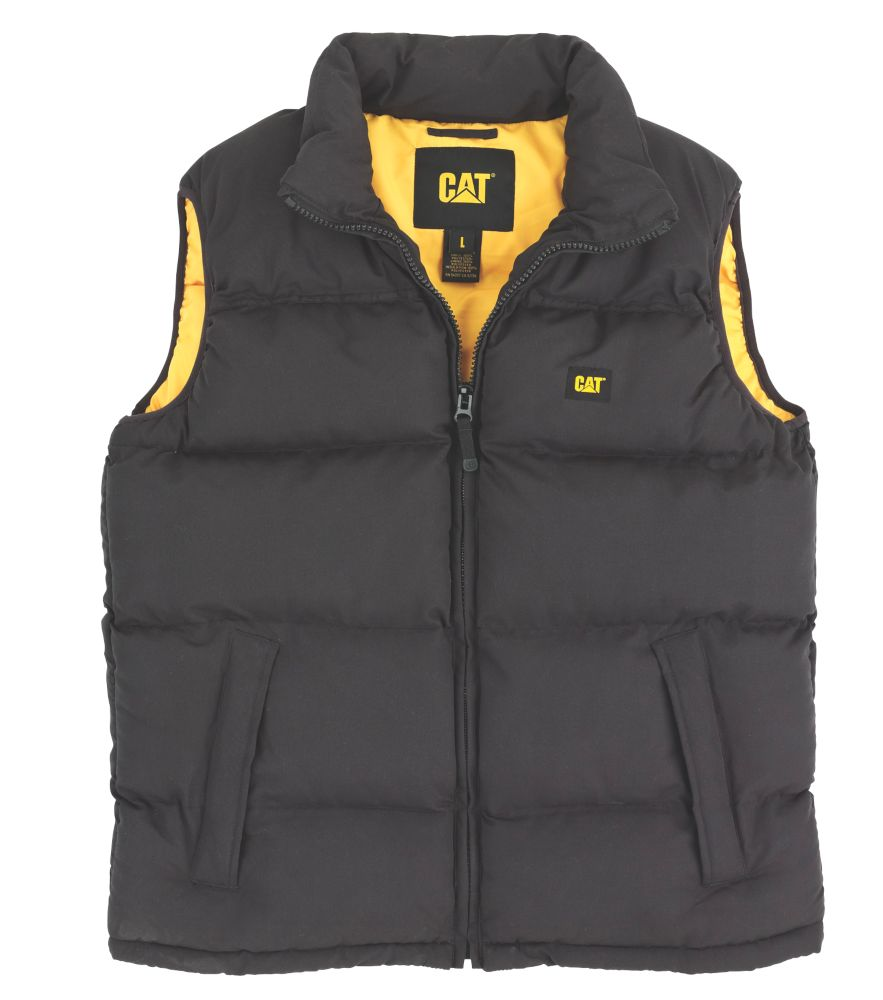 CAT C430 Body Warmer Black Medium 38-40""