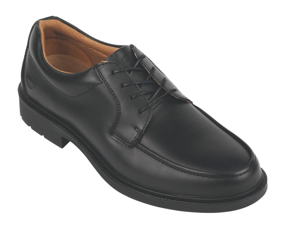City Knights Derby Tie Executive Safety Shoes Black Size 11