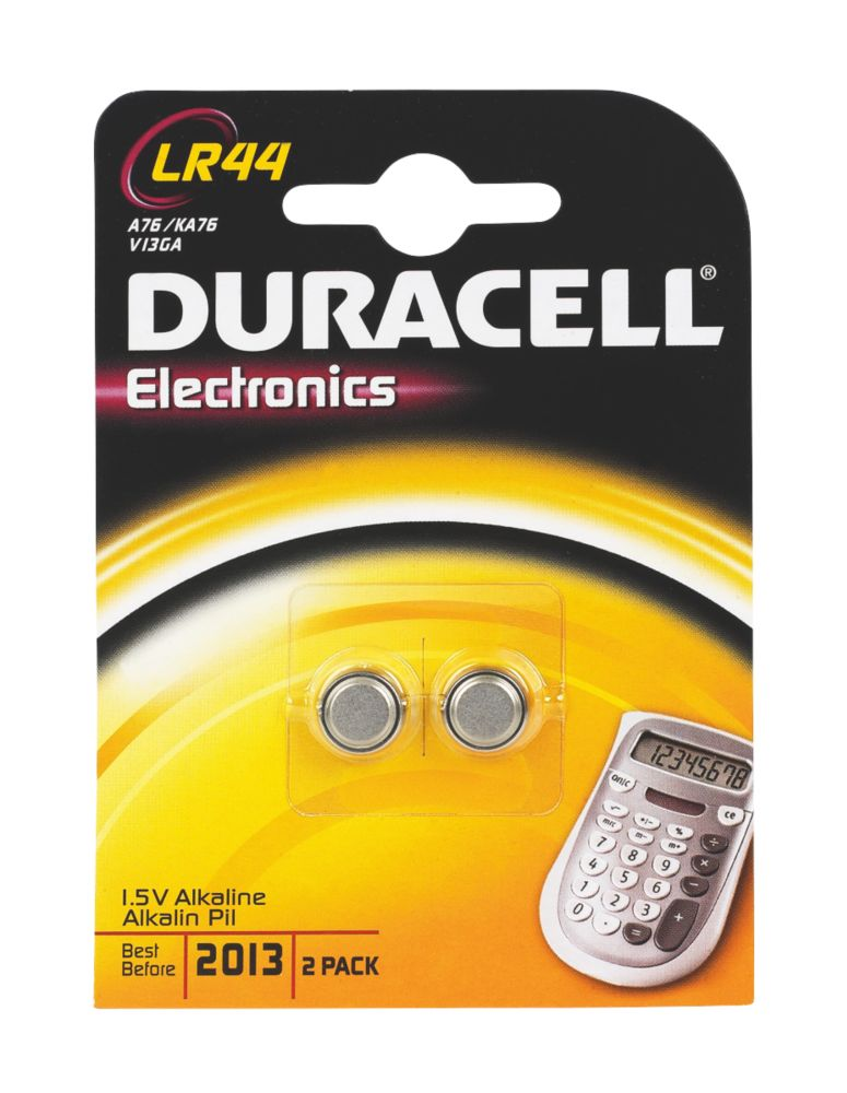 Duracell LR44 1.5V Alkaline Batteries Pack of 2
