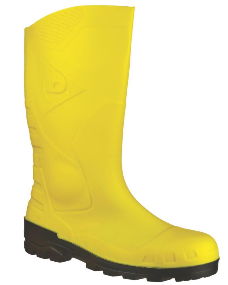 Dunlop Devon H142211 Yellow Wellington Size 4