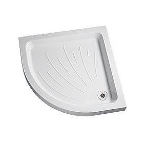 Flight Corner Quadrant Shower Tray Acrylic