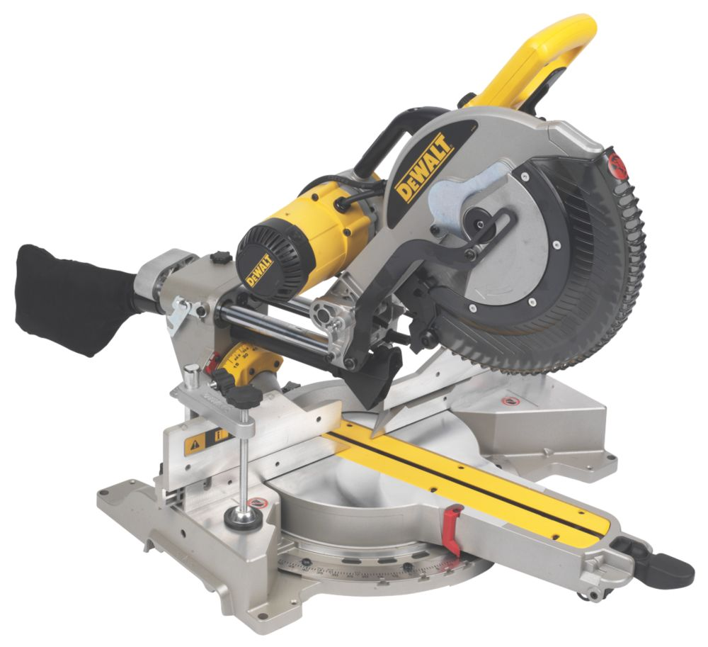 DeWalt DWS780-GB 305mm Double Bevel Compound Sliding Mitre Saw 240V