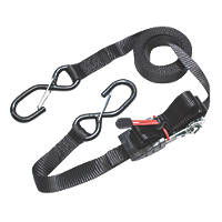 Master Lock Ratchet Straps with S-Hooks 4.25m x 25mm 2 Pack
