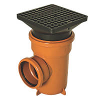 FloPlast D515 Underground Bottle Gully Square Lid