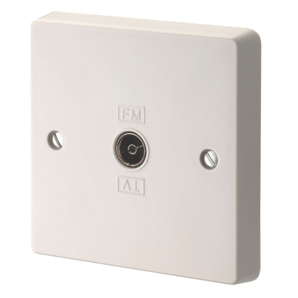 Crabtree 1-Gang TV / FM Socket