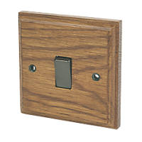 Varilight 10A SP 1-Gang 1/2-Way Switch Medium Oak