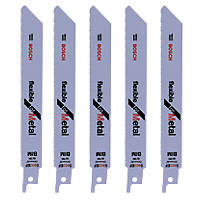 Bosch Reciprocating Saw Blades Metal S922EF 150mm 18Tpi Pack of 5