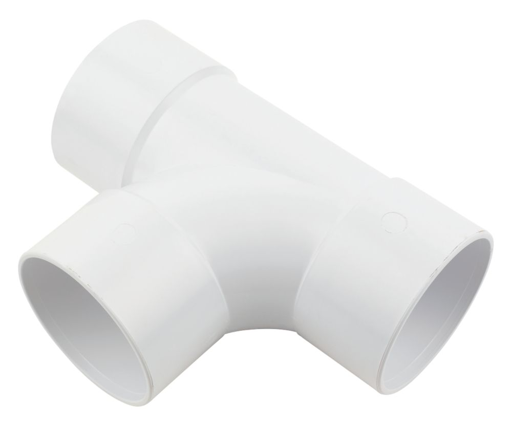 FloPlast WS24 Solvent Weld Equal Tee 50mm White
