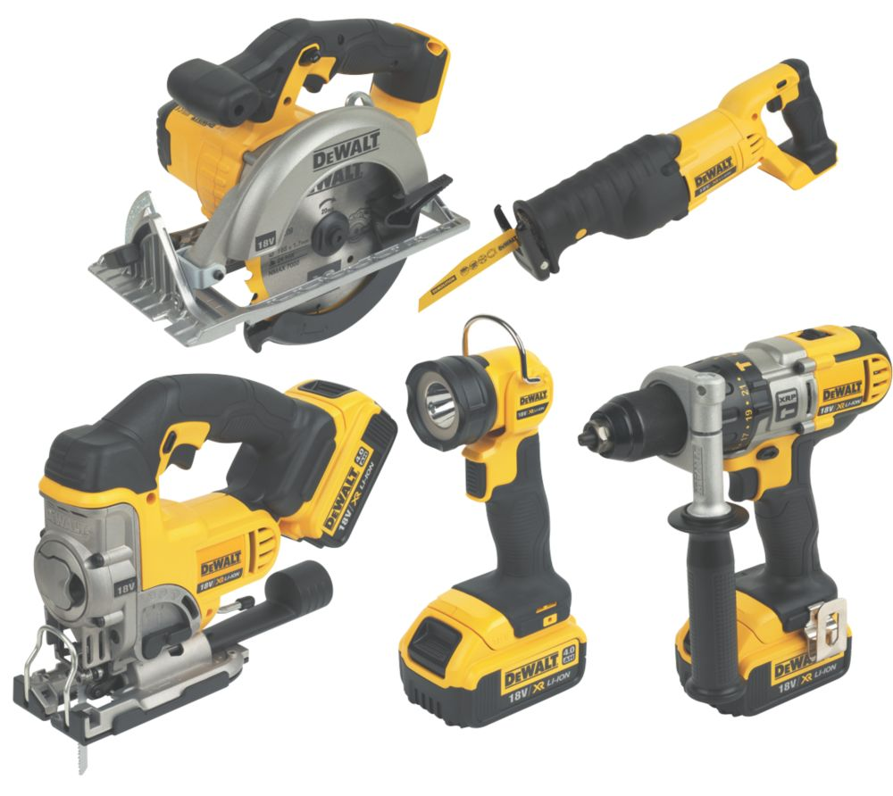 DeWalt DCK59M3-GB 5 Piece Kit 18V