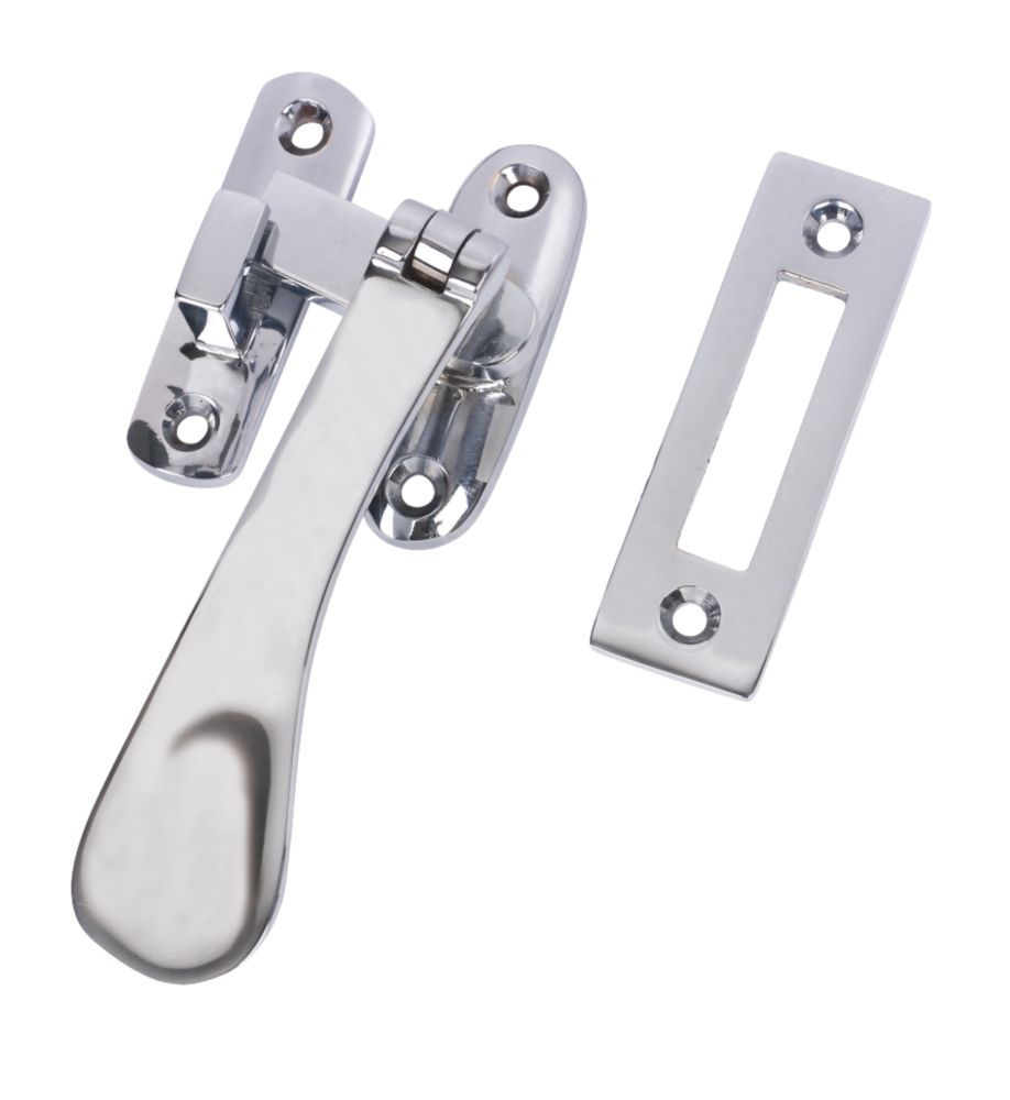 Hook and Mortice Fastener Polished Chrome
