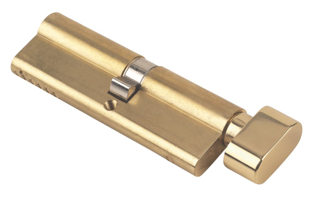 Yale KM Series Euro Thumbturn Cylinder Lock 45-50 (95mm) Polished Brass