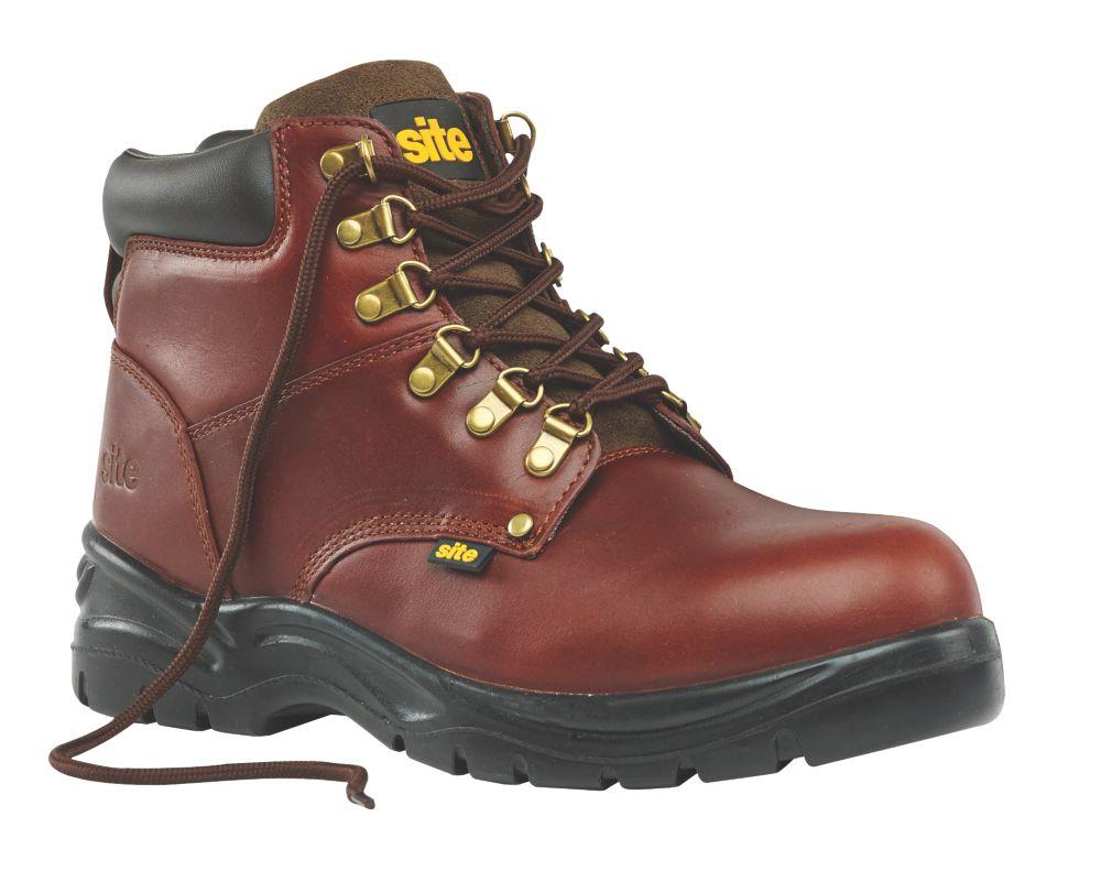 Site Stone Safety Boots Chestnut Size 7