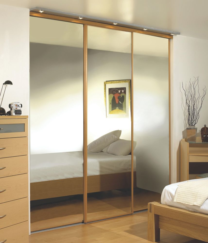 Oak Framed Wardrobe Mirror Doors 2280 x 2330mm