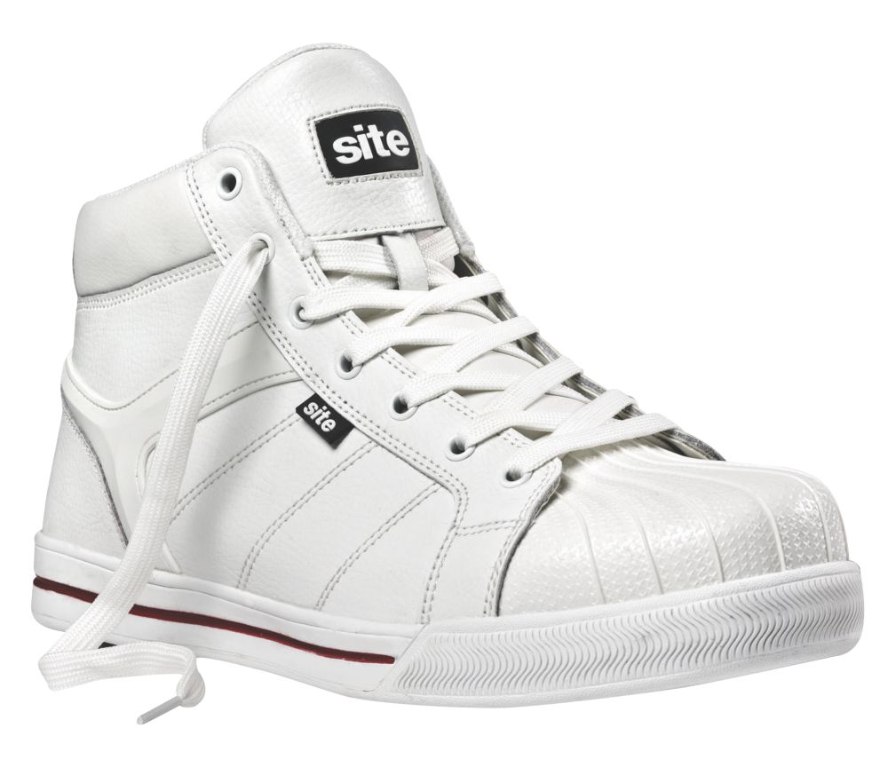 Site Shale Hi-Top Safety Trainer Boots White Size 8