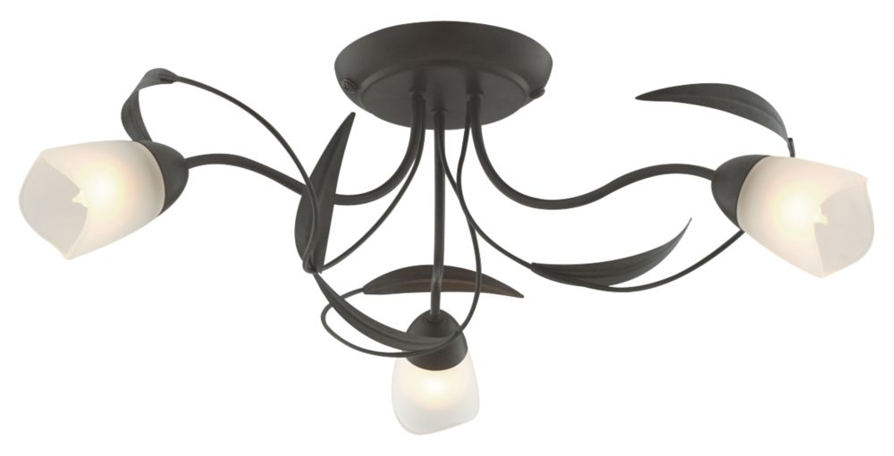 Sherwood 3-Light Ceiling Light Brown 40W