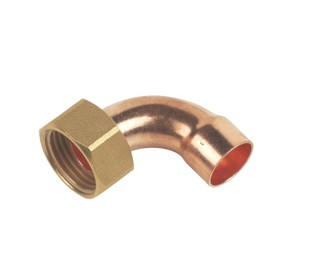 End Feed Bent Tap Connector 15mm x ½""