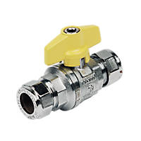 Pegler Tee Ball Valve Yellow 15mm