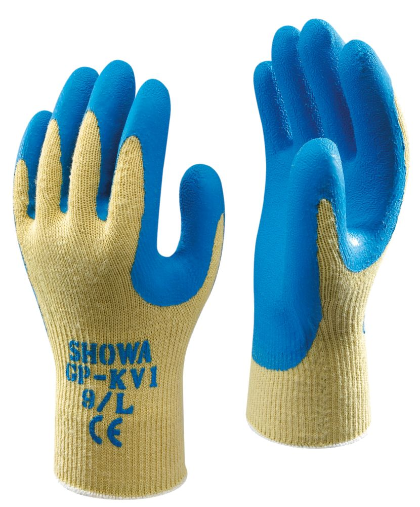Showa Best GP-KV1 Cut-Resistant Kevlar Gloves Blue Large