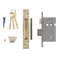 "Smith & Locke BS 5-Lever Mortice Sashlock Stainless Brass 2½"" / 64mm"