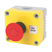 Hylec 1-Way A-Lock Mushroom Head Stop Push Button