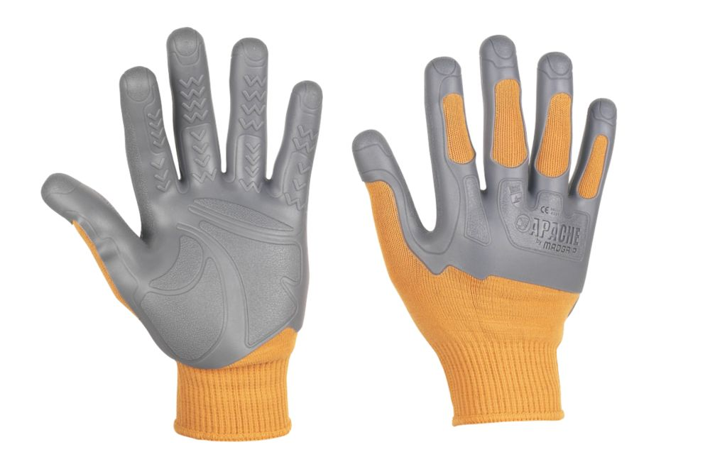 Apache Madgrip Cut-Resistant Groundworker Gloves Yellow Large / X Large