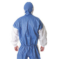 "3M 4535 Type 5/6 Disposable Protective Coverall White Lge 39-43"" Chest  L"