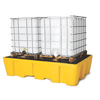 Lubetech Double IBC Spill Pallet no grating