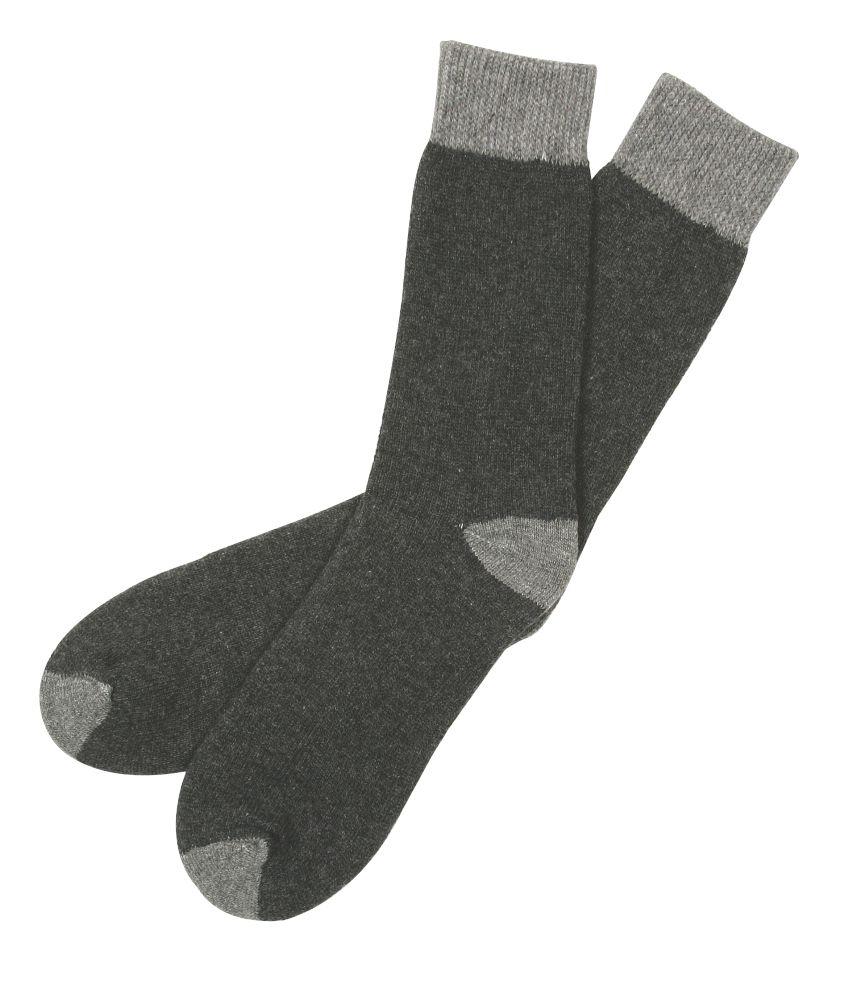 Scruffs Work Socks 2 Pairs Black