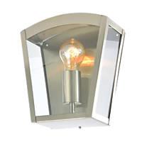 Zinc Artemis Satin Nickel Metal Framed Curved Top Lantern 60W