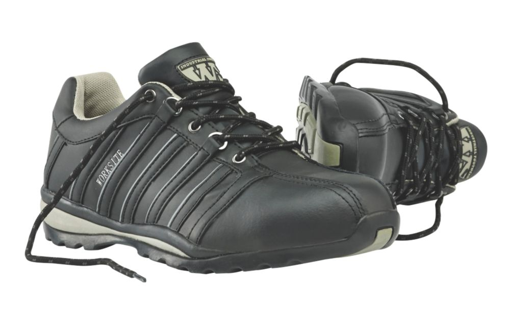 Worksite Safety Trainers Black Size 7
