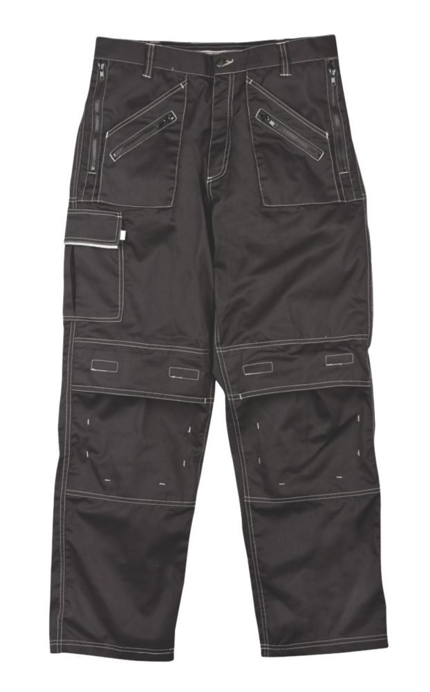 "Site Terrier Classic Work Trousers Black 40"" W 32"" L"