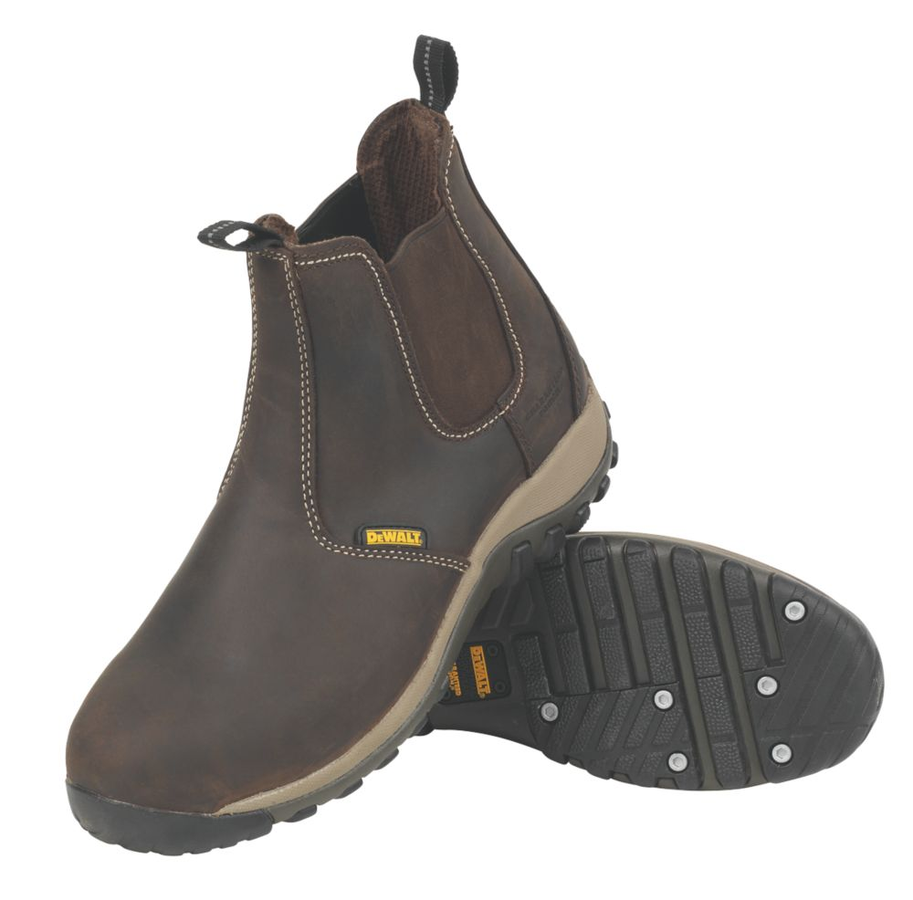 DeWalt Radial Dealer Safety Boots Brown Size 8