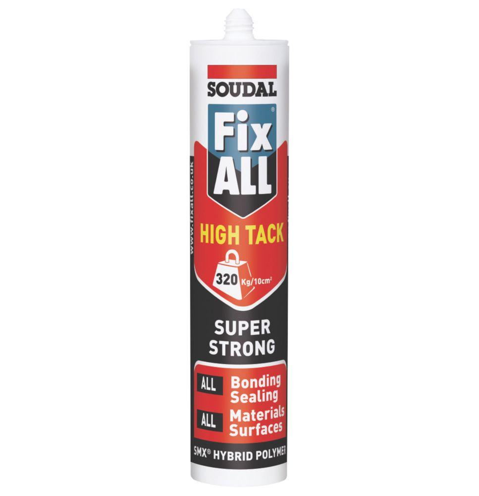 Soudal Fix All High Tack Adhesive & Sealant White 290ml