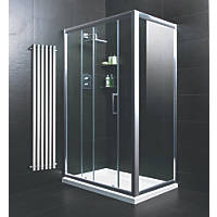 Moretti  Rectangular Shower Enclosure  Silver 1200 x 800 x 1850mm